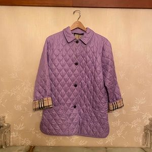 Burberry Quilted Jacket - Lavender/Purple - $375